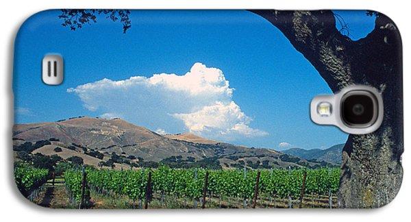 Landscape Framed Prints Galaxy S4 Cases - Santa Ynez Vineyard View Galaxy S4 Case by Kathy Yates