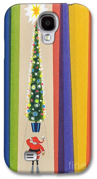 Santa's Christmas Tree Galaxy S4 Case by Stanley Cooke