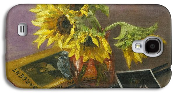 Sargent And Sunflowers Galaxy S4 Case by Lisa  Spencer