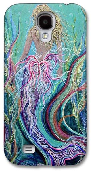 Angel Mermaids Ocean Galaxy S4 Case - Sassy Mermaid  by Angel Fritz