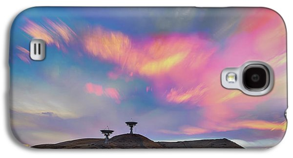 Galaxy S4 Case featuring the photograph Satellite Dishes Quiet Communications To The Skies by James BO Insogna