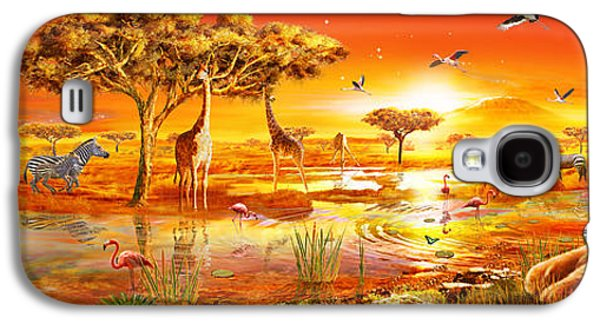 Sun Galaxy S4 Cases - Savanna Sundown Galaxy S4 Case by Adrian Chesterman