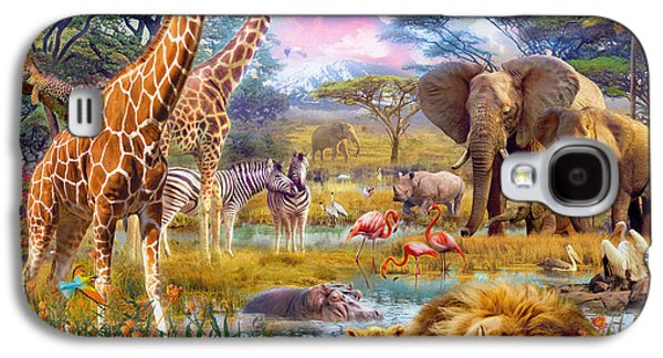 Savannah Animals Galaxy S4 Case by Jan Patrik Krasny