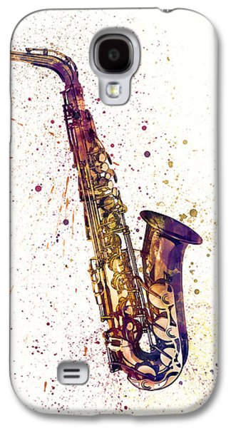 Saxophone Abstract Watercolor Galaxy S4 Case