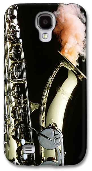 Saxophone Galaxy S4 Case - Saxophone With Smoke by Garry Gay
