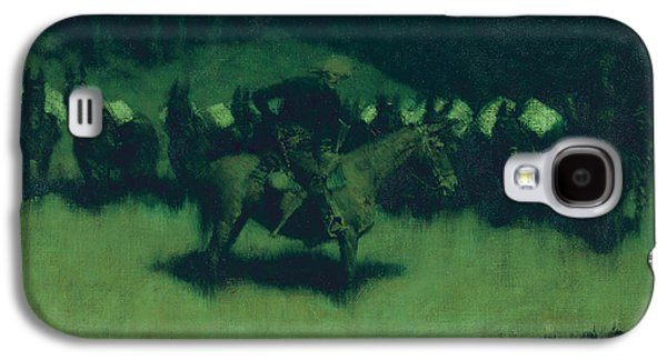 Scare In A Pack Train Galaxy S4 Case by Frederic Remington