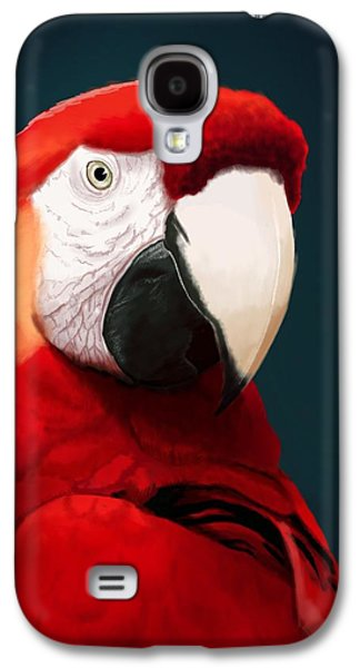 Parrot Galaxy S4 Case - Scarlet Macaw by KC Gillies