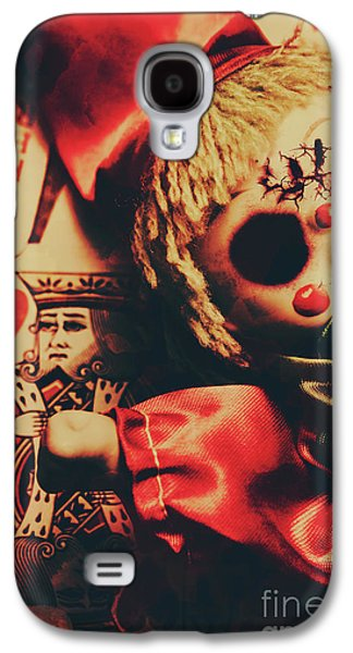 Scary Doll Dressed As Joker On Playing Card Galaxy S4 Case by Jorgo Photography - Wall Art Gallery