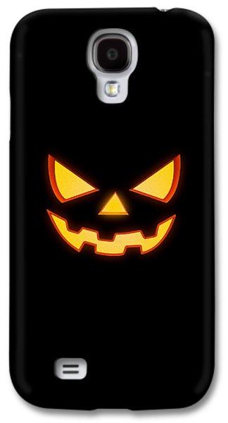 Scary Halloween Horror Pumpkin Face Galaxy S4 Case