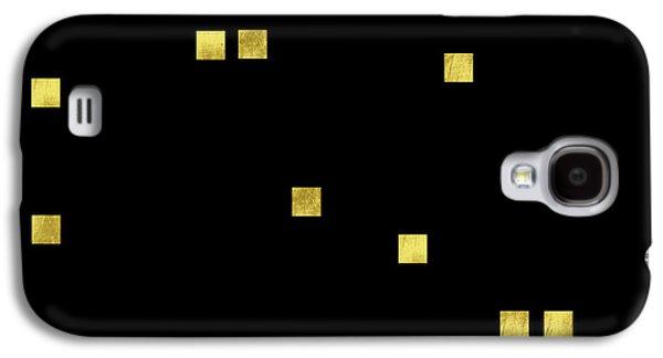 Scattered Gold Square Confetti Gold Glitter Confetti On Black Galaxy S4 Case