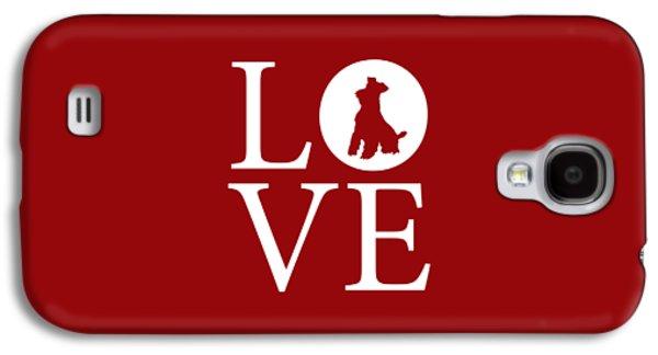 Schnauzer Love Red Galaxy S4 Case by Nancy Ingersoll