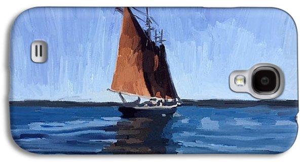 Schooner Roseway In Gloucester Harbor Galaxy S4 Case by Melissa Abbott
