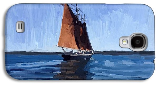 Galaxy S4 Case - Schooner Roseway In Gloucester Harbor by Melissa Abbott