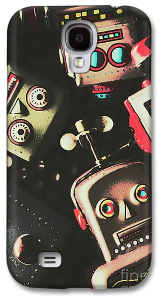 Science Fiction Robotic Faces Galaxy S4 Case by Jorgo Photography - Wall Art Gallery