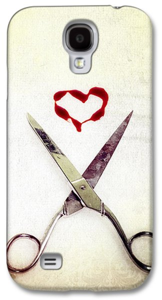 Scissors And Heart Galaxy S4 Case by Joana Kruse
