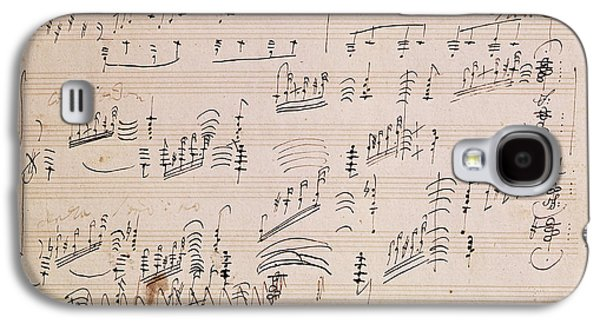 Score Sheet Of Moonlight Sonata Galaxy S4 Case by Ludwig van Beethoven