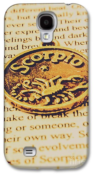 Scorpio Star Sign Token Galaxy S4 Case by Jorgo Photography - Wall Art Gallery