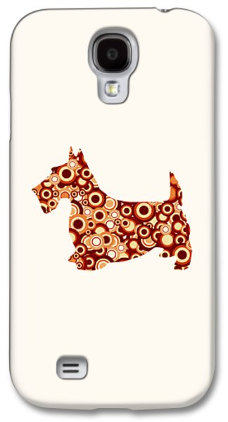 Scottish Terrier - Animal Art Galaxy S4 Case by Anastasiya Malakhova