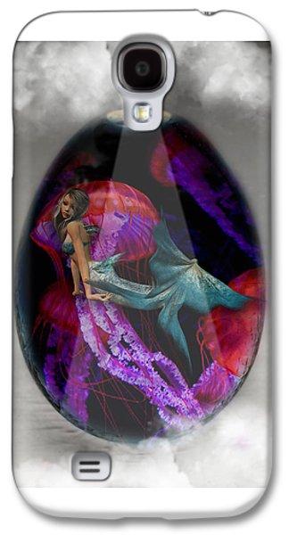 Sea Creature Mermaid Jellyfish Art Galaxy S4 Case
