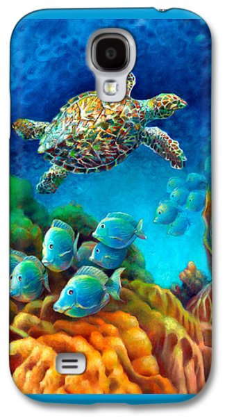 Sea Escape IIi - Gemstone Hawksbill Turtle Galaxy S4 Case by Nancy Tilles