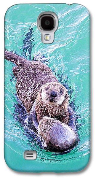Sea Otter Pup Galaxy S4 Case by Deana Glenz