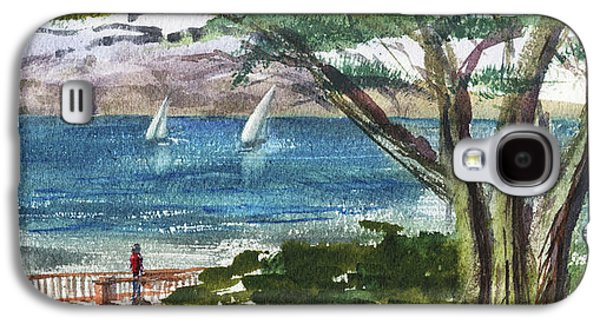 Sea Shore Elongated Painting Galaxy S4 Case