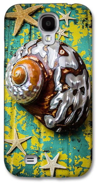 Sea Snail Shell With Stars Galaxy S4 Case by Garry Gay