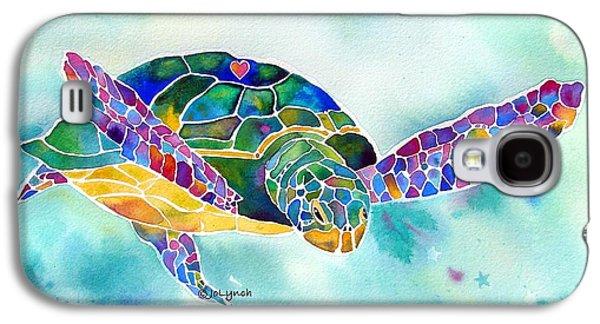 Reptiles Galaxy S4 Case - Sea Weed Sea Turtle  by Jo Lynch
