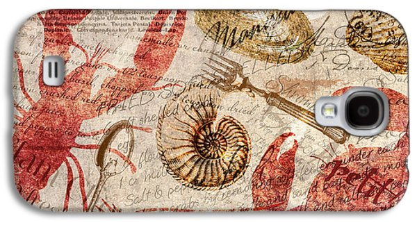 Seafood Restaurant Postcard Galaxy S4 Case by Mindy Sommers