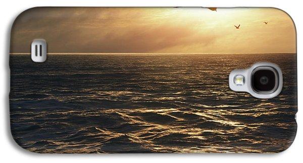 Seagulls Into The Sun Galaxy S4 Case by Carlos Caetano