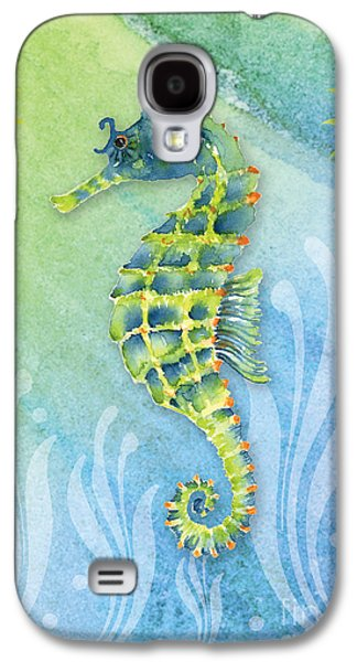 Seahorse Blue Green Galaxy S4 Case by Amy Kirkpatrick