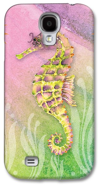 Seahorse Violet Galaxy S4 Case by Amy Kirkpatrick