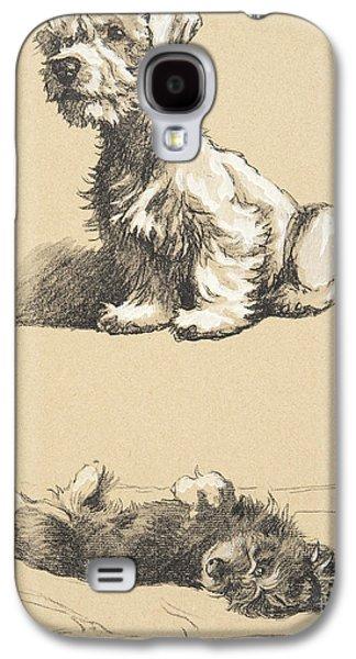 Sealyham And Rough Dachund Puppy, 1930 Galaxy S4 Case