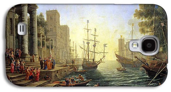 Seaport With The Embarkation Of Saint Ursula  Galaxy S4 Case by Claude Lorrain