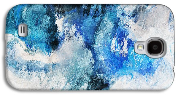 Seascape Abstract Painting - Minimalist Waves Galaxy S4 Case by Ayse Deniz
