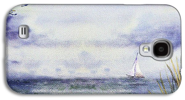Seascape Elongated Painting With Sailboat Galaxy S4 Case