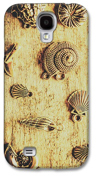 Seashell Shaped Pendants On Wooden Background Galaxy S4 Case