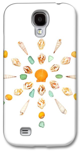 Seashell Snowflake 7 Galaxy S4 Case by Jennifer Booher