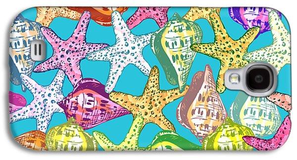Seashells And Sea Stars Galaxy S4 Case by Gaspar Avila