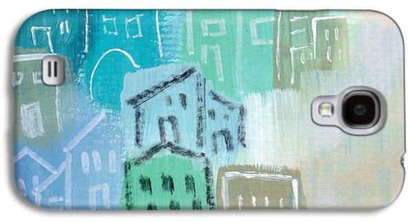 Town Galaxy S4 Case - Seaside City- Art By Linda Woods by Linda Woods