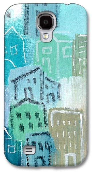 Seaside City- Art By Linda Woods Galaxy S4 Case by Linda Woods