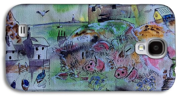 Seaside With Pigs Galaxy S4 Case by Gordon Bell