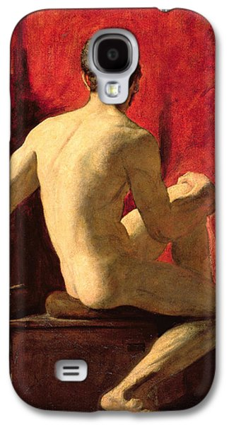 Strength Galaxy S4 Cases - Seated Male Model Galaxy S4 Case by William Etty