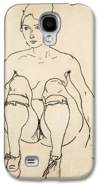 Seated Nude With Shoes And Stockings Galaxy S4 Case