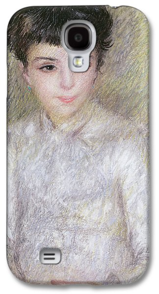 Seated Portrait Of A Young Girl With Brown Hair Galaxy S4 Case