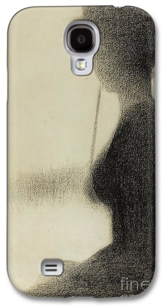 Seated Woman With A Parasol  Galaxy S4 Case
