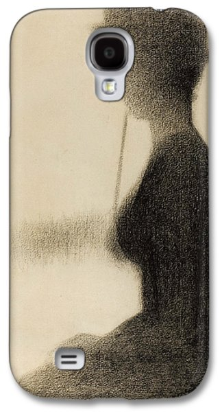 Seated Woman With A Parasol Study For La Grande Jatte Galaxy S4 Case by Georges-Pierre Seurat