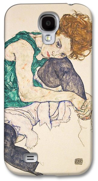 Seated Woman With Legs Drawn Up Galaxy S4 Case by Egon Schiele