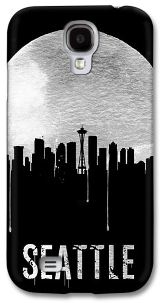 Seattle Skyline Black Galaxy S4 Case