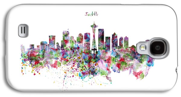 Seattle Skyline Silhouette Galaxy S4 Case